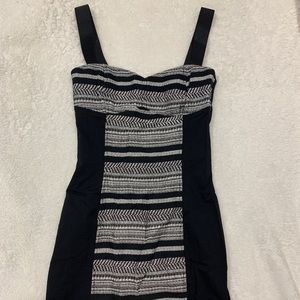 black and white h&m mini dress, size 6